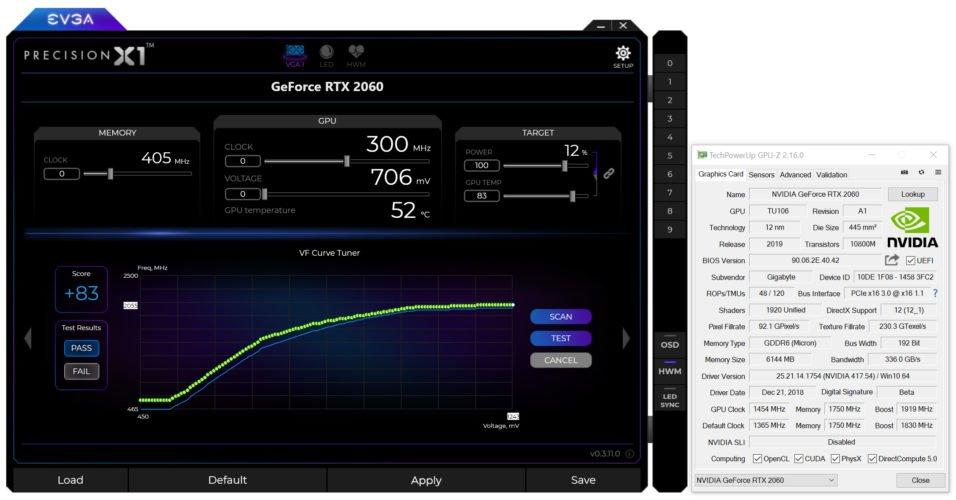 OC scan sur la Gigabyte RTX 2060 Gaming OC PRO