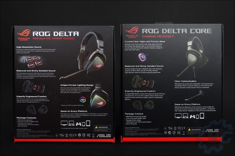 Le casque audio Asus ROG Delta Core