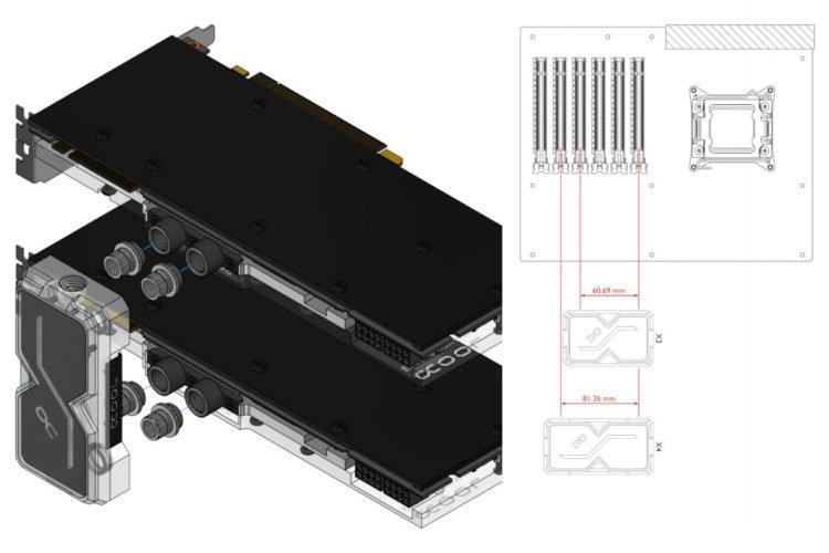 Alphacool GPX SLI Connector Dual Plexi Adressable RGB