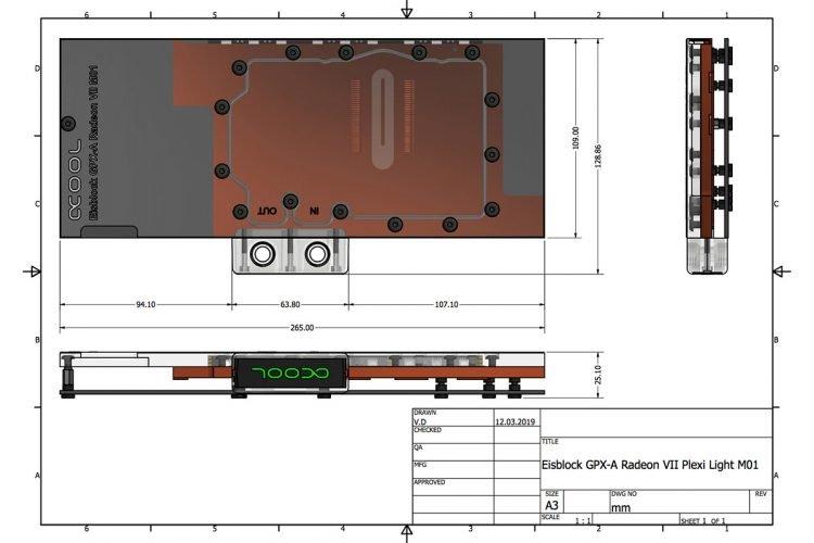 Alphacool Eisblock Plexi Light pour les Radeon VII