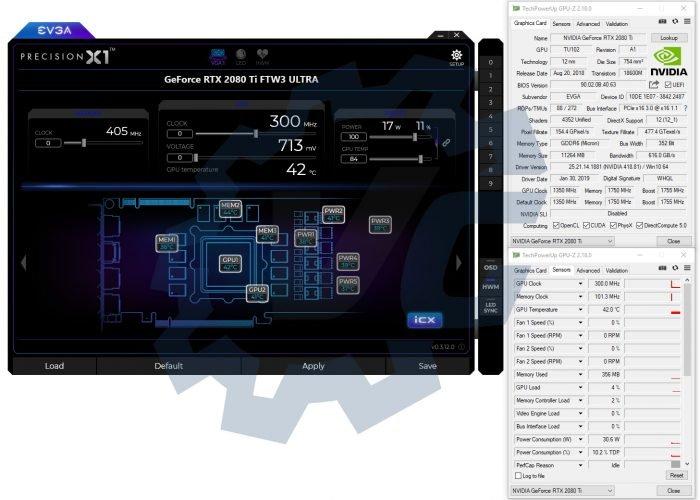 GPUz pour la EVGA RTX 2080 Ti FTW3 Ultra Gaming