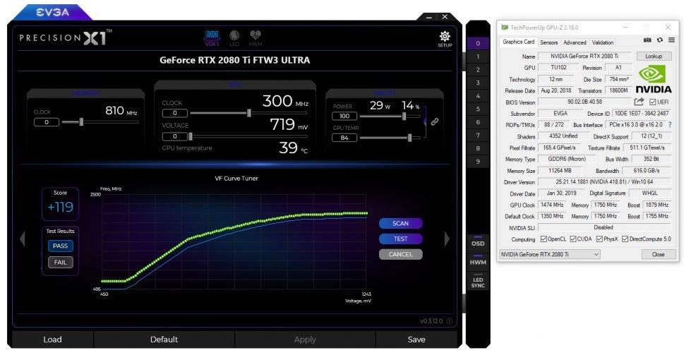 Precision X1 de EVGA, différence de score