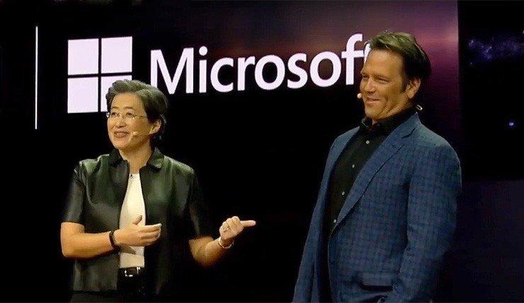 Lisa Su et Phil Spencer CES 2019