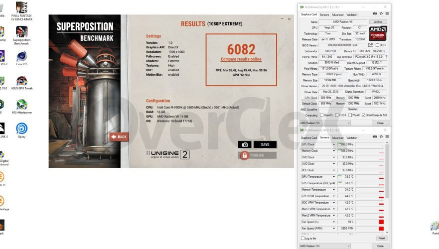 Benchmark avec la AMD Radeon VII