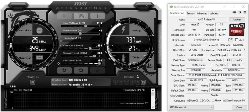 Afterburner 4.6.0 pour la Radeon VII