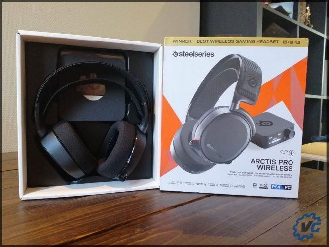 Arctis Pro Wireless - le casque dans sa boîte