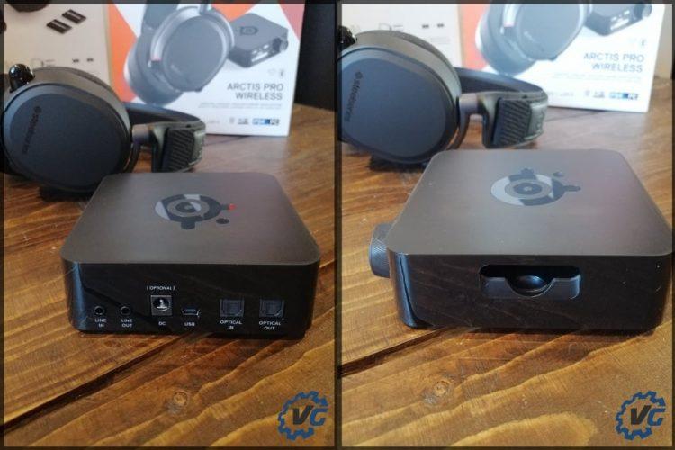 Arctis Pro Wireless - récap des connectiques émetteur