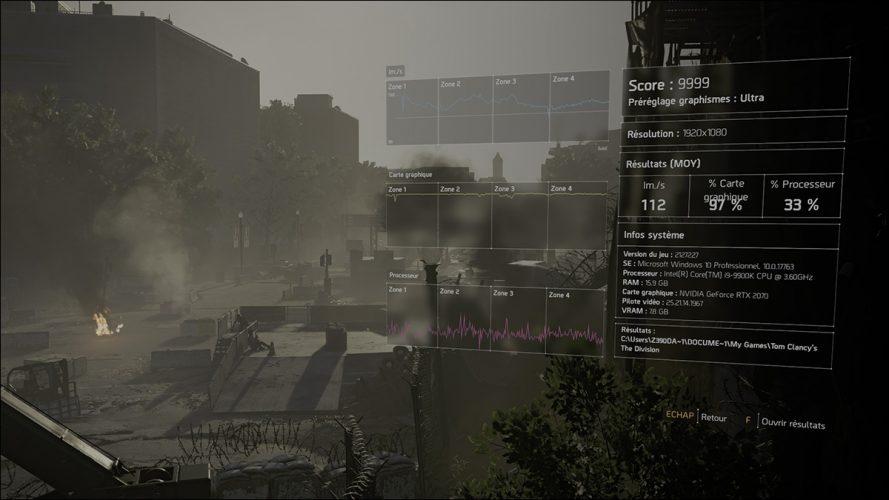 Benchmark The Division 2 avec les Radeon, GTX, RTX
