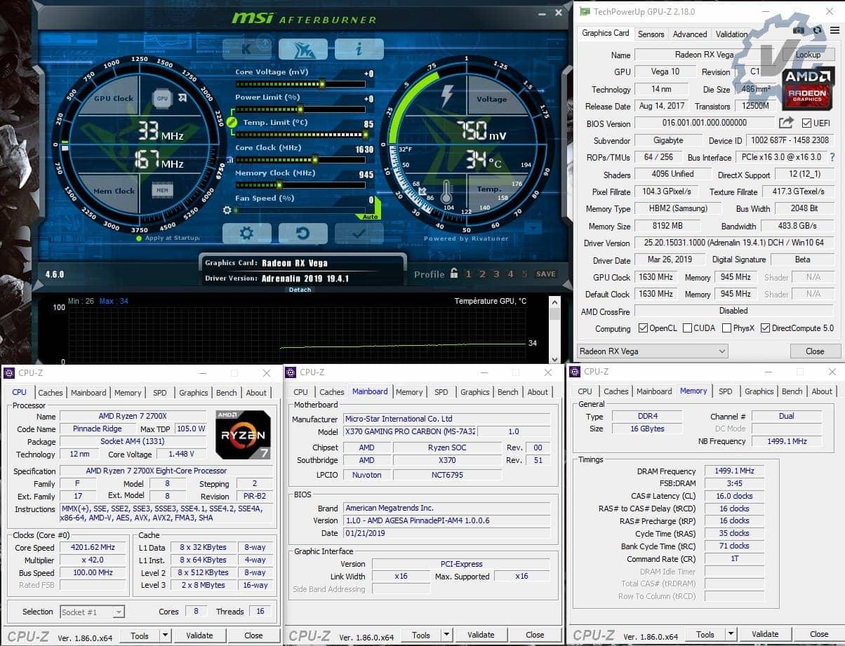 Configuration de test Vega 64