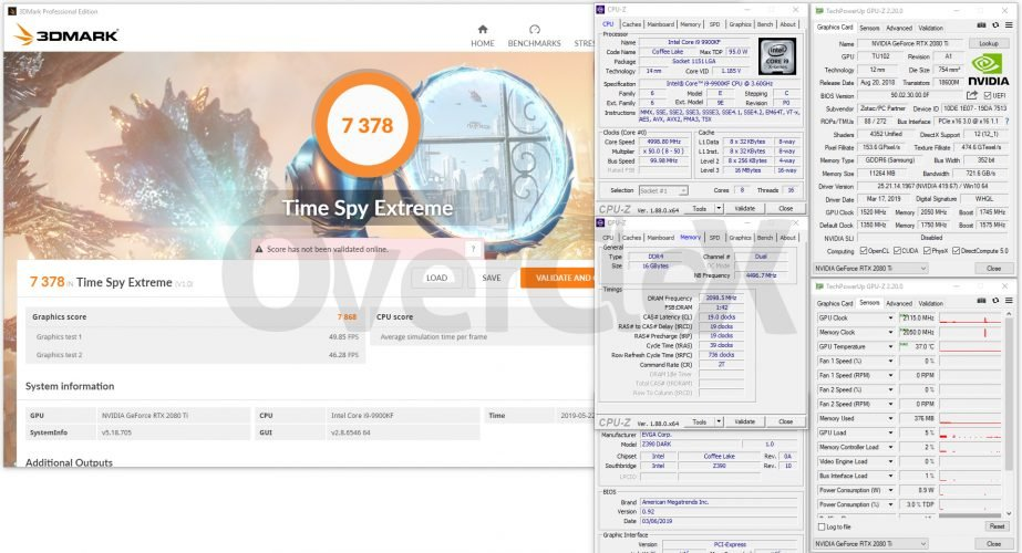 Benchmark 3D Zotac RTX 2080 Ti ArcticStorm