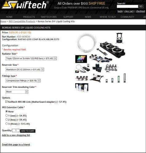 Achat en ligne kit Boreas de chez Swiftech