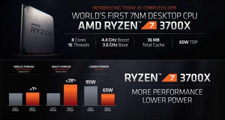 Les nouveaux processeurs AMD Ryzen 3700X, 3800X et 3900X