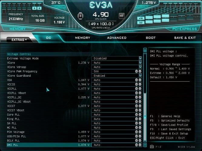 Bios et overclocking automatique sur la EVGA Z390 DARK