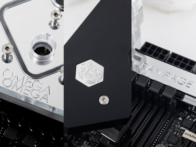 Waterblock Bitspower pour l'Asus Rampage VI Extreme Omega