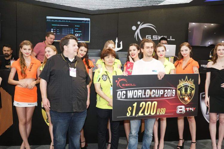 La compétition d'overclocking organisée par GSKILL au Computex