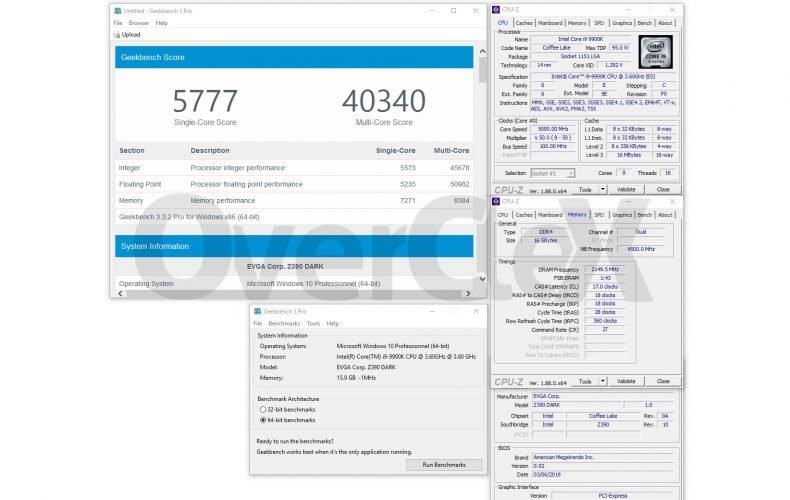 L'overclocking mémoire sur la EVGA Z390 DARK