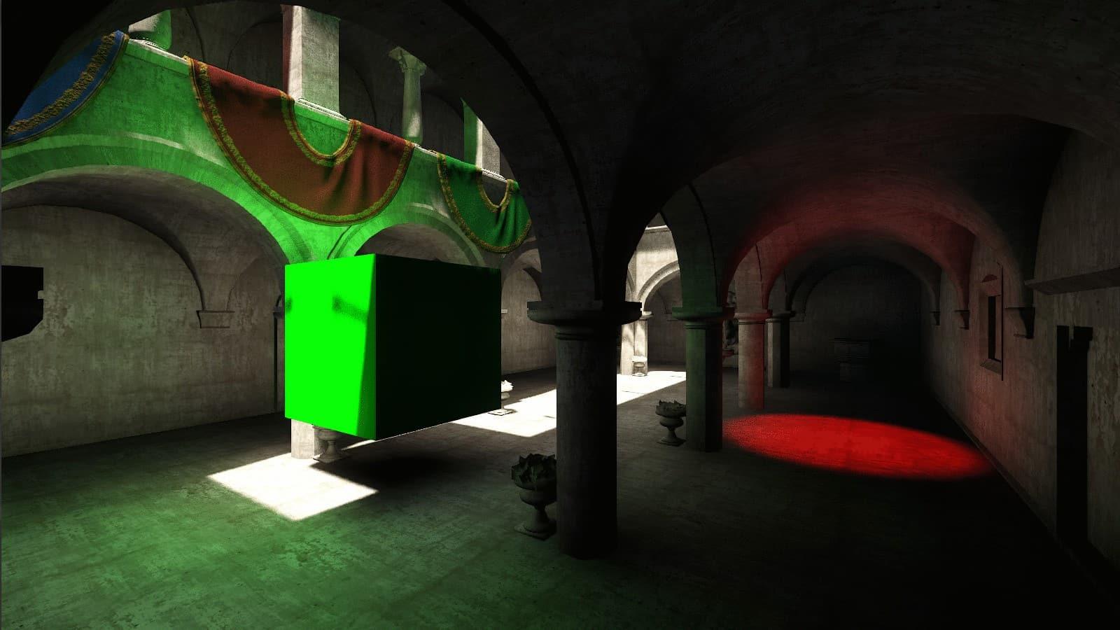 Scène test SVOGI On avec les tous les reflets et ombres active