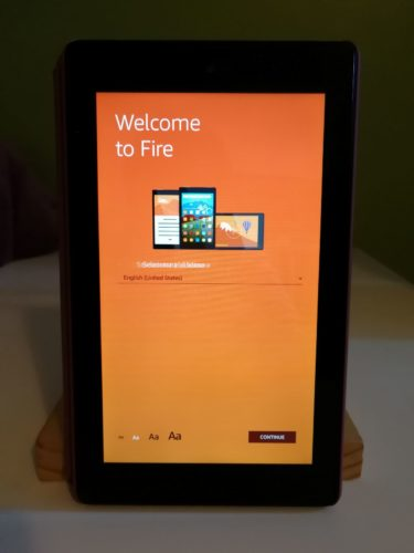 Amazon Fire 7 Accueil