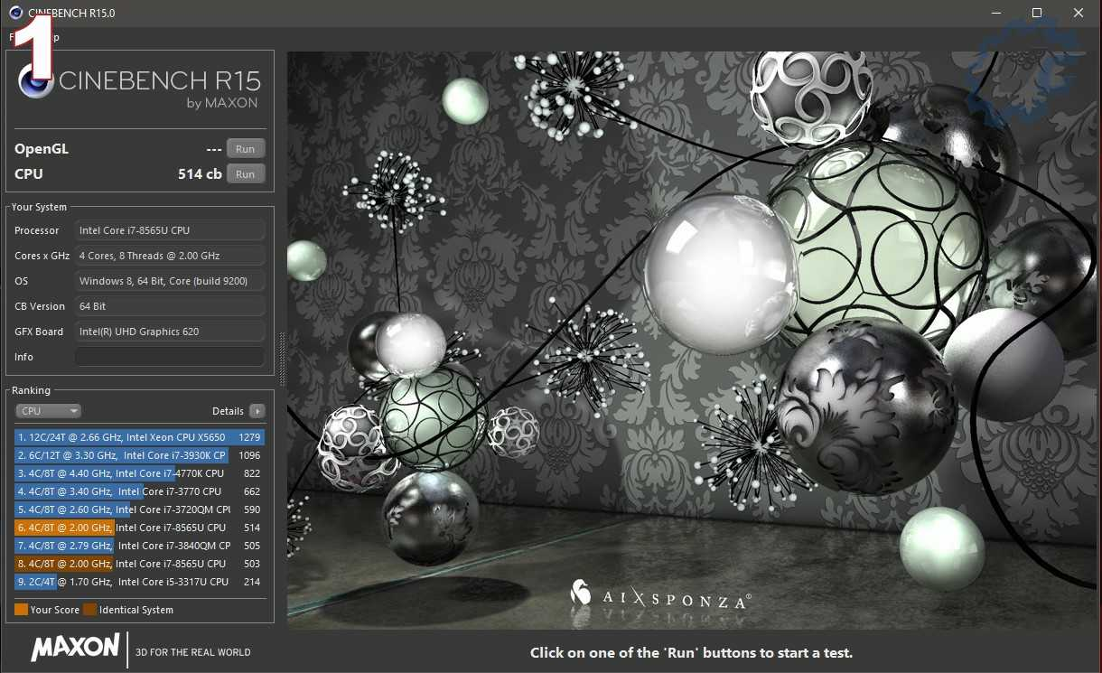 Cinebench R15 Secteur