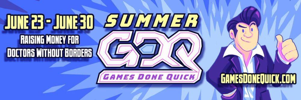 bannière Summer games done quick 2019