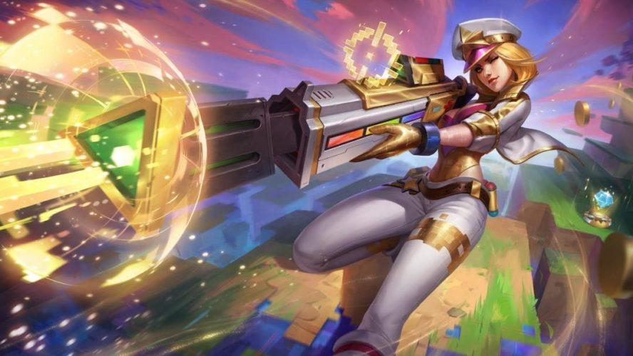 skin caitlyn prestige événement arcade ultracombo league of legends jeux vidéo vonguru
