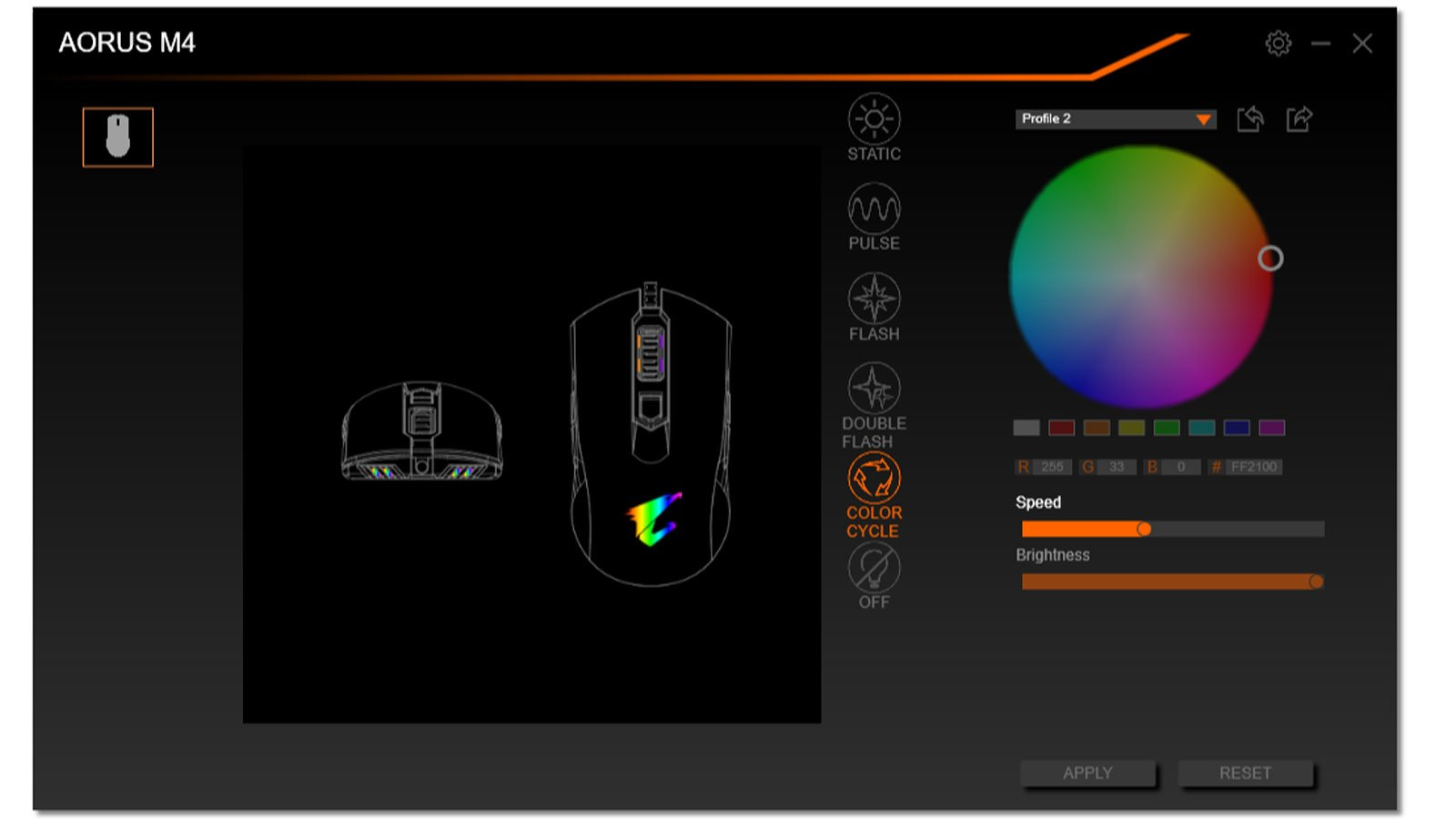 Screenshot de RGB Fusion 2.0