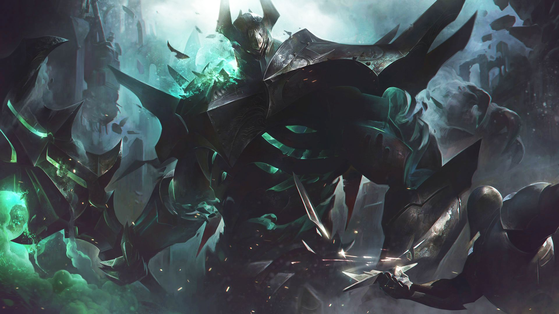 Mordekaiser Rework Splash Art League of Legends Jeux Vidéos Vonguru