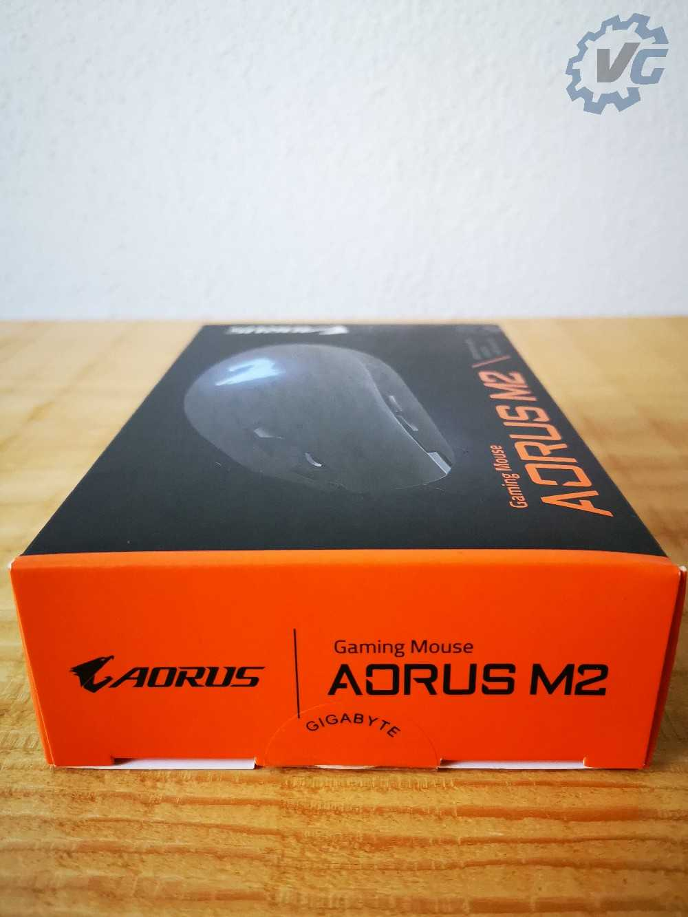 Carton de la souris Aorus M2 tranche haute