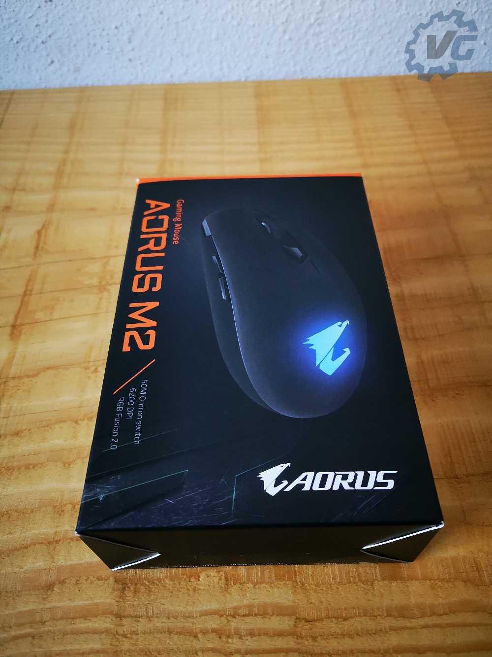Carton de la souris Aorus M2 face avant