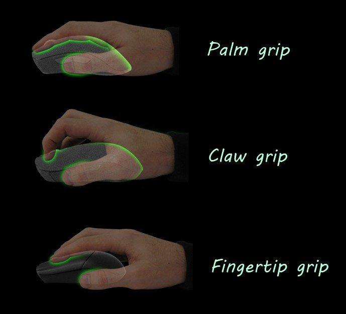 position des mains souris