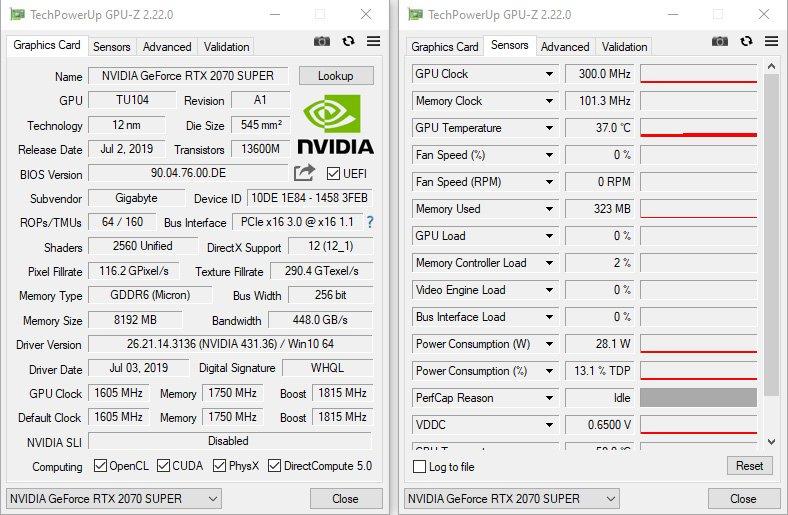 Test - Gigabyte RTX 2070 SUPER Gaming OC 8G