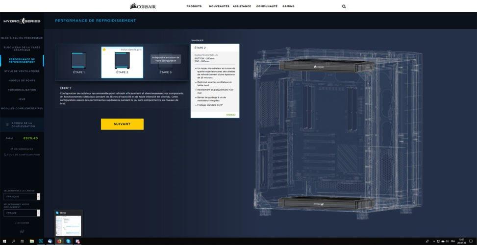 Le configurateur de refroidissement personnalisé de Corsair