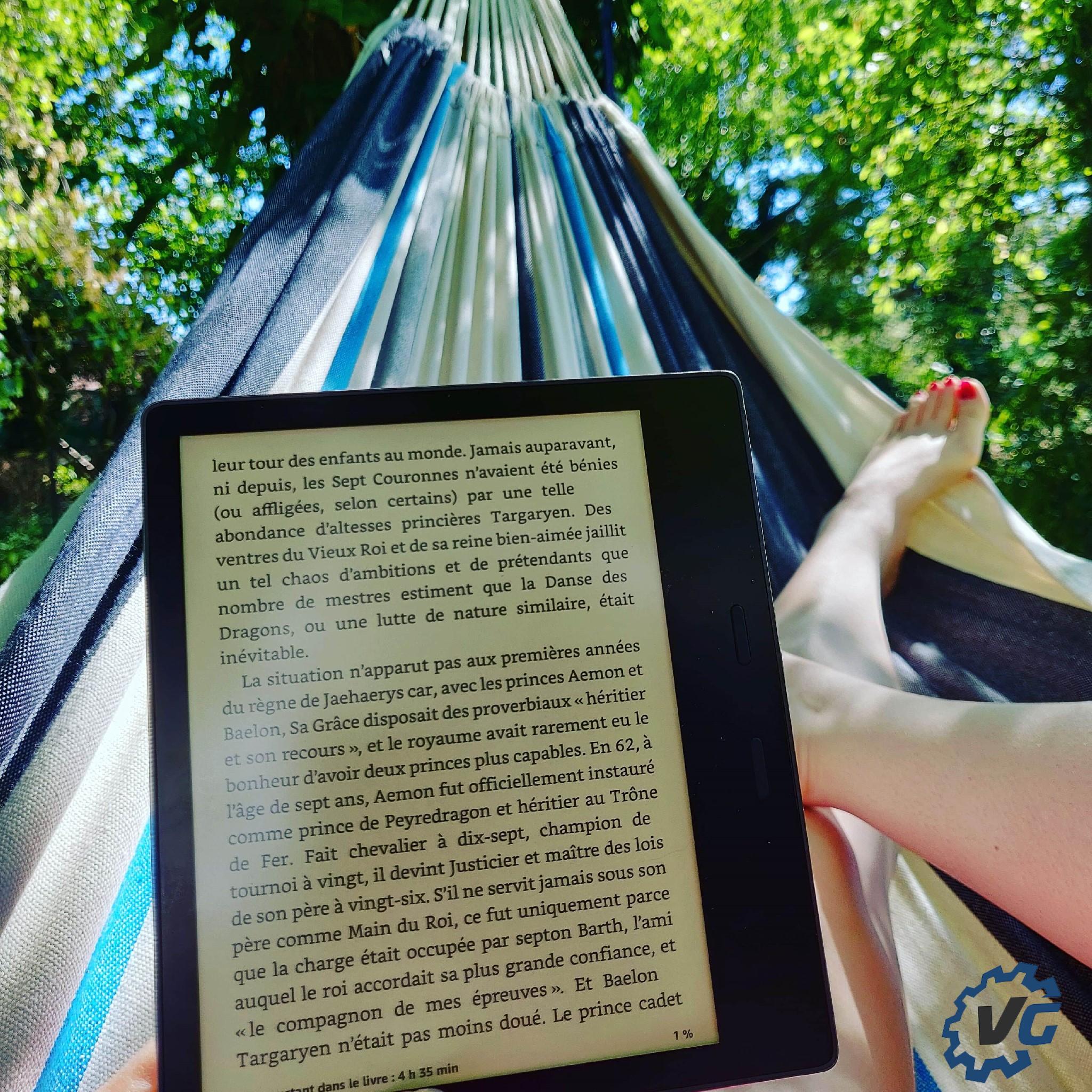 Nouveau Kindle Oasis hamac
