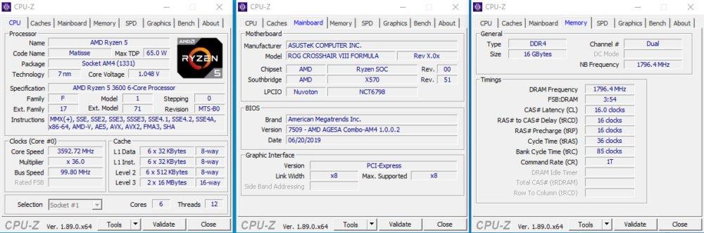 La mémoire sur le chipset X570 avec le Ryzen 3600