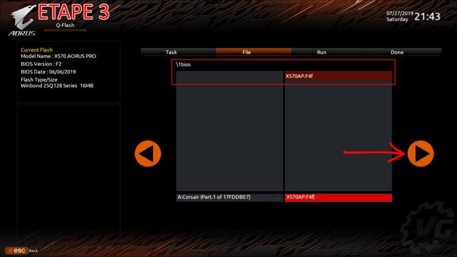 Tuto flash du bios de la Gigabyte X570 Aorus Pro