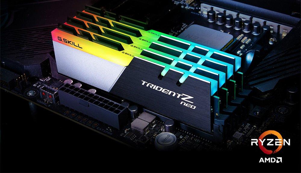 Le kit GSKILL Trident Z Neo à 3800 MHz CL14