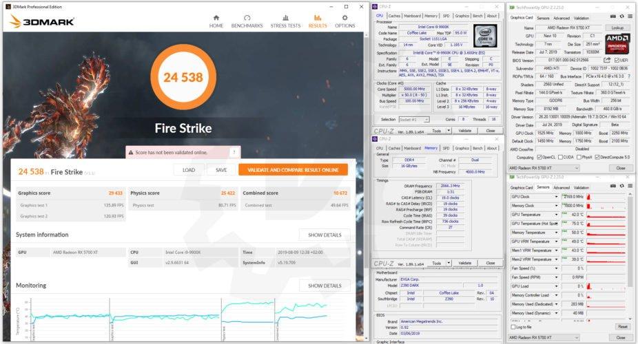 Fire strike avec la RX 5700 XT