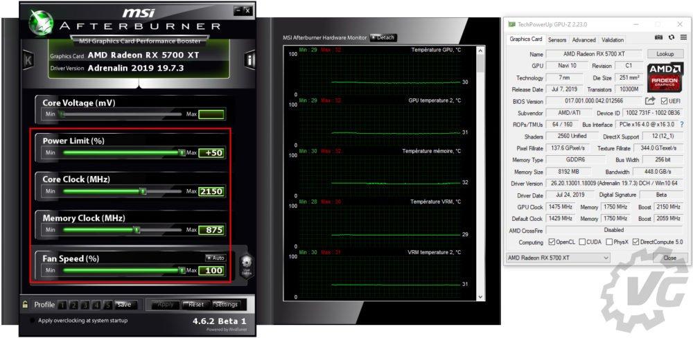 Overclocking de la AMD RX 5700 XT