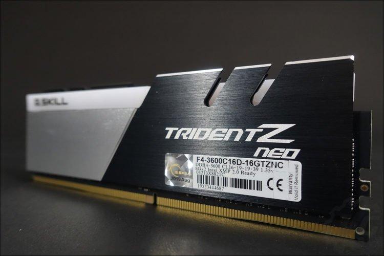 Le kit GSKILL Trident Z Neo pour Ryzen