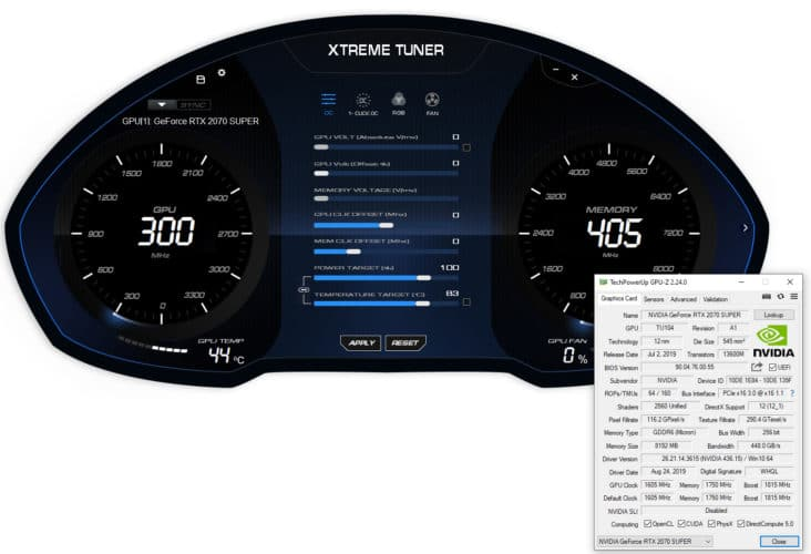 Le bouton d'overclocking 1-Click OC