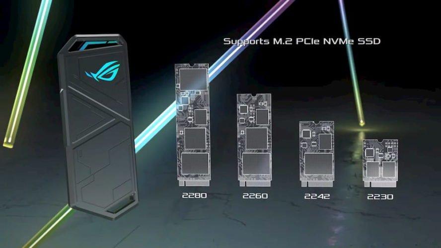 Asus ROG Strix Arion compatibilité SSD