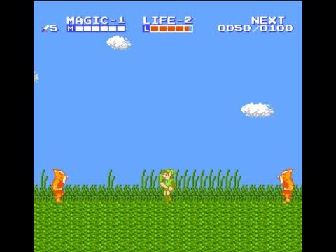 Zelda 2 vue de côté