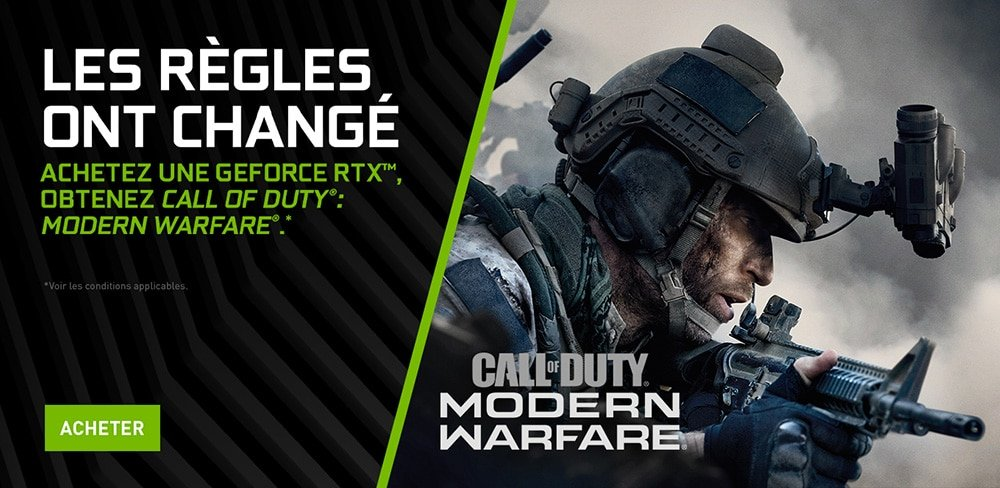 Bundle pour les cartes graphiques NVIDIA Call of Duty Modern Warfare