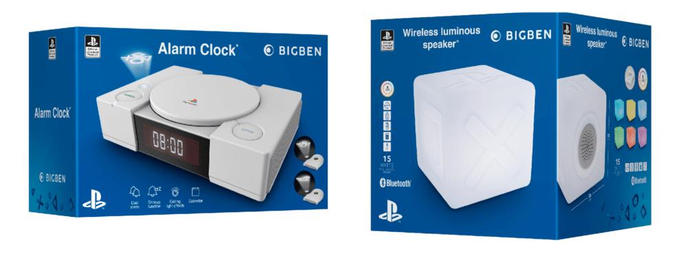 enceinte sans-fil lumineuse BIGBEN PS200 et réveil BIGBEN PS1AC