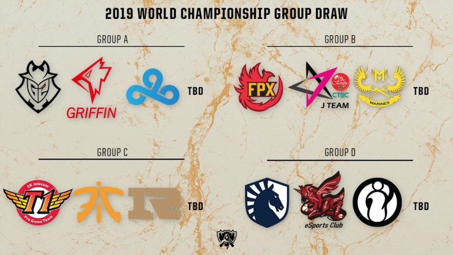 worlds 2019 groupes esport league of legends jeux video vonguru