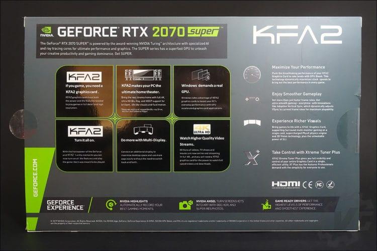 La carte graphique KFA2 RTX 2070 Super EX