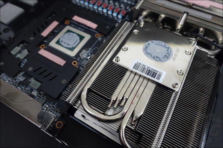 Le système de refroidissement de la MSI RX 5700 XT Gaming X