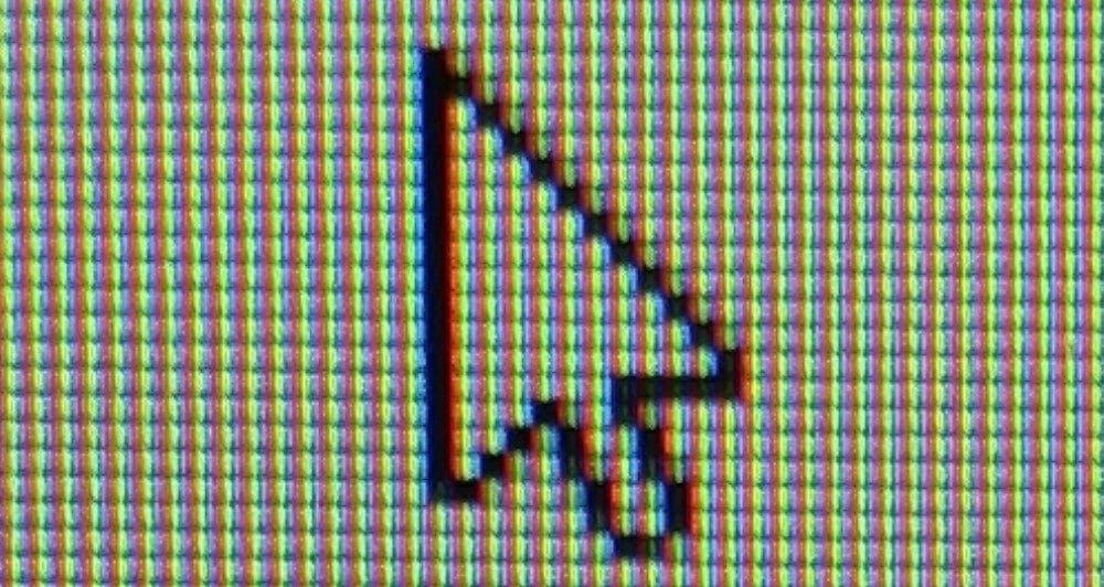 photo des pixels d'un écran