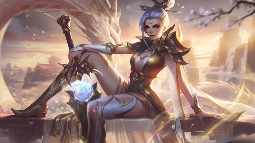 Riven à l'épée vaillante édition prestige skin patch 9.19 league of legends jeux vidéo vonguru