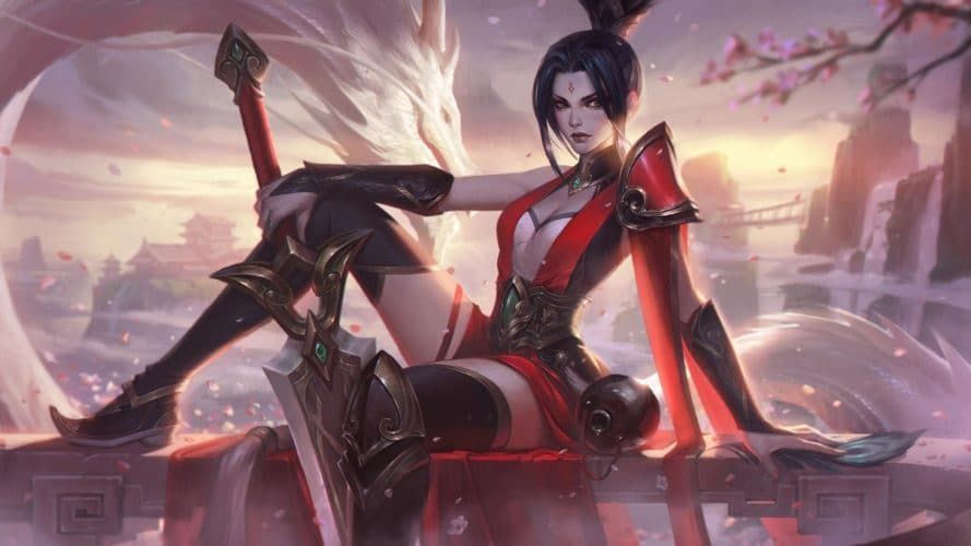 Riven à l'épée vaillante skin patch 9.19 league of legends jeux vidéo vonguru